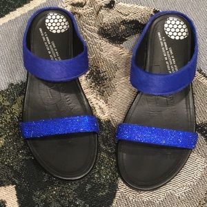 Fitflop all leather with crystals and horsehair